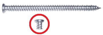 kozijnschroeven Top Universeel voor kunst- en aluminium kozijnen  7,5 x 42MM tot 402mm